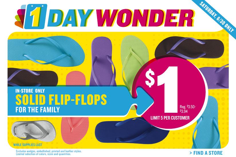 old navy one dollar flip flop sale 2019