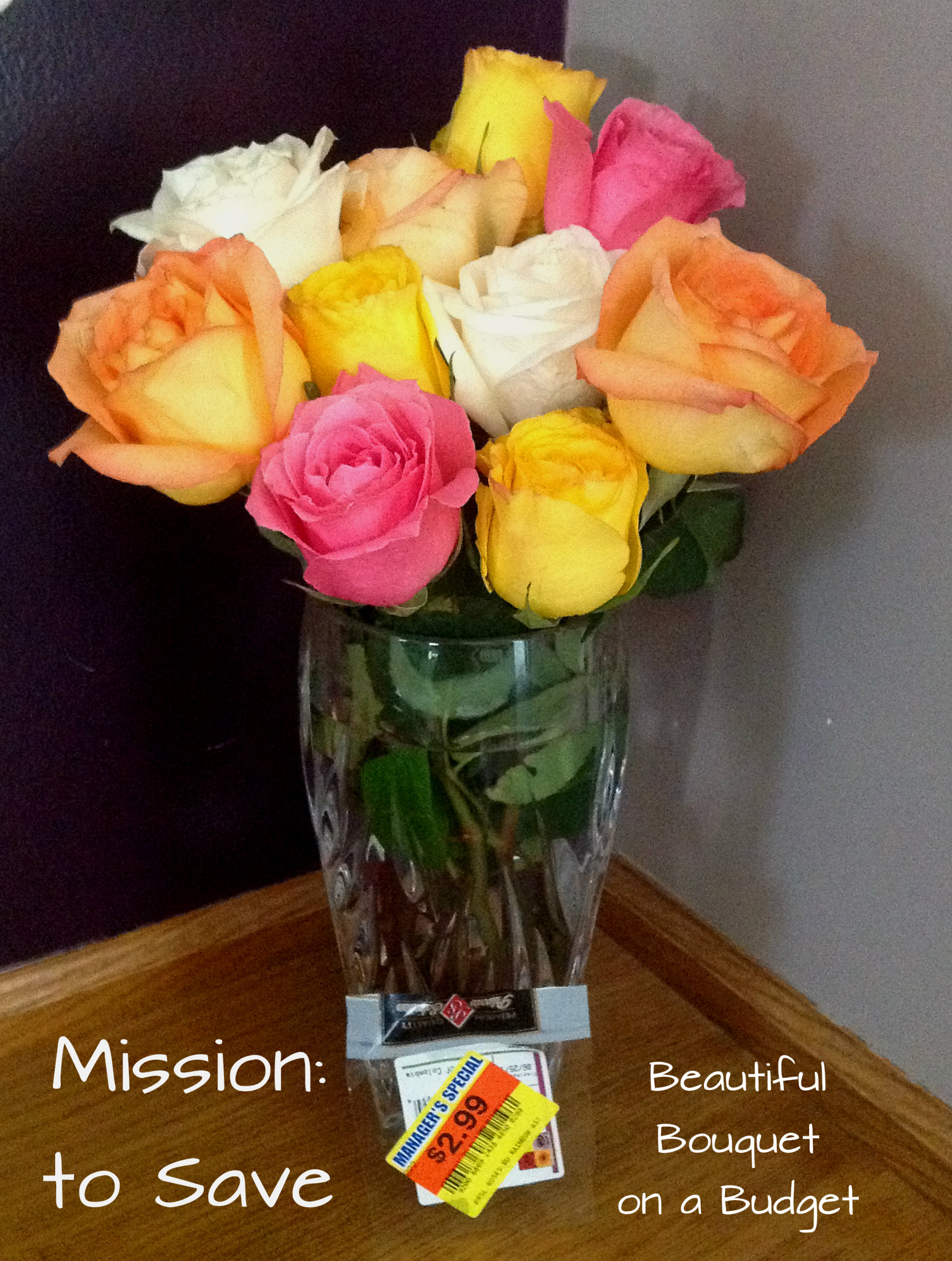 Check out my tip for finding beautiful bouquets on a budget.  Yes you can have roses on a couponer's budget!