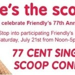 Friendly's Celebrates with $0.77 Ice Cream Today! (7/21/12)