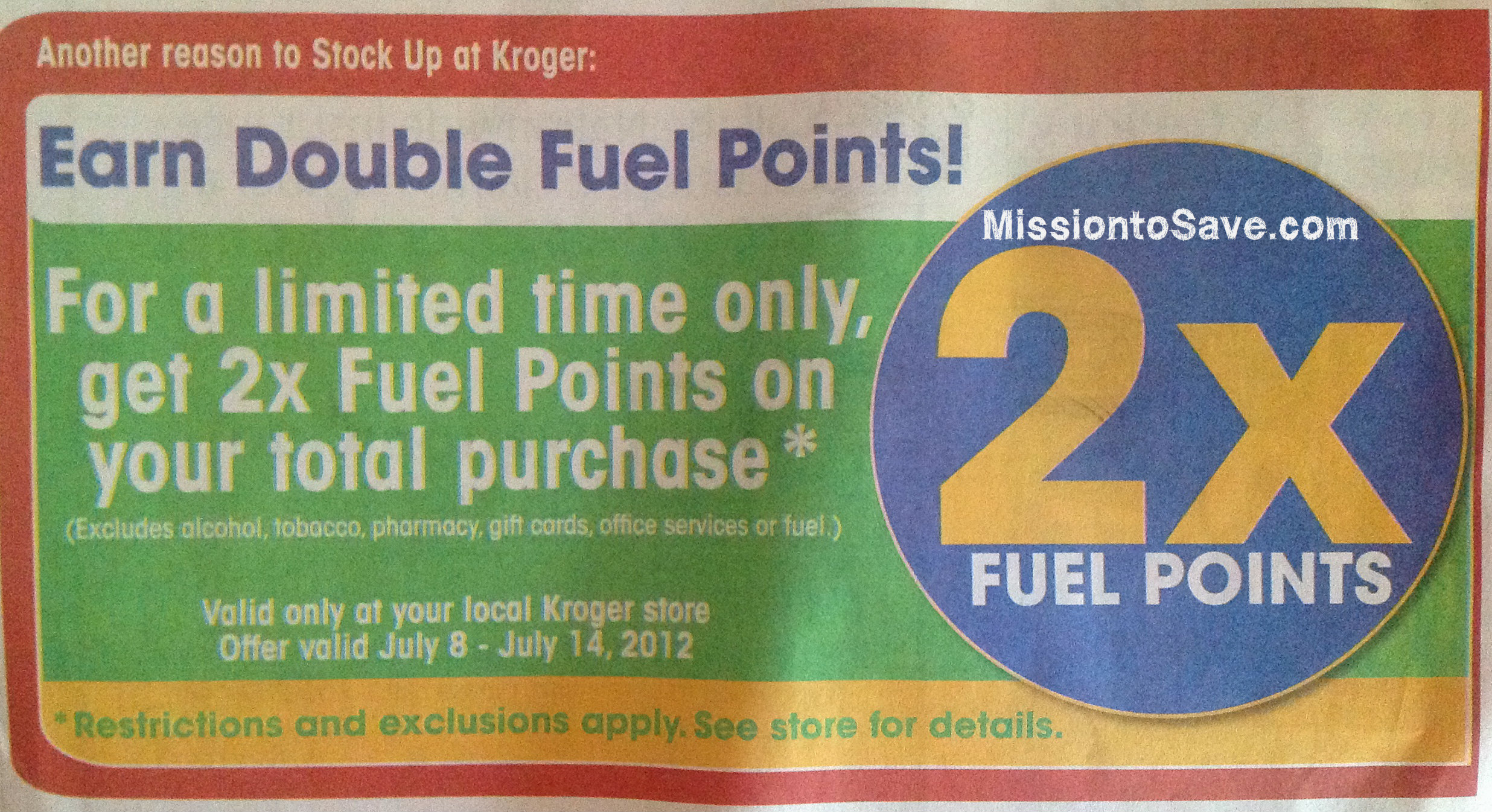 kroger sale paper for this week Kroger is the country's largest supermarket chain, operating over 2000 stores items in a buy one get one free sale ring up at half price so you only have to purchase one item to get it half off sales run wednesday through tuesday.