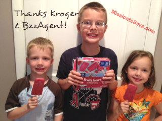 Kroger Brand Pomegranete Frozen Juice Bars- Delish!  (Thanks BzzAgent!)