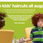 Reminder: JCPenney Free Haircuts for Elementary Kids in August!  Call Today!