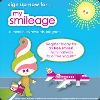 Sign up for the Menchie's MySmileage Reward program.