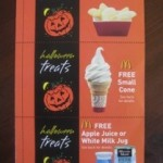 McDonald's Halloween Coupon Books- $1 for 12 Freebies