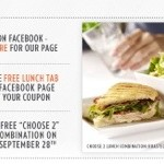 Macaroni Grill, Free Lunch on Friday- 9/28 (with Facebook coupon)