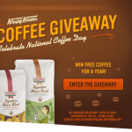 Krispy Kreme: Free 12 oz Coffee on National Coffee Day, 9/29 + Enter to Win a Year's Worth of Bagged Coffee!
