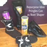Repurpose Pringles Cans for Boot Shaper