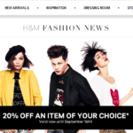 H&M 20% Off One Item (thru 9/16)