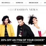 H&M 20% Off One Item (thru 9/16)