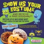Free Krispy Kreme Doughnuts for Kostume Klad Kustomers on Halloween!