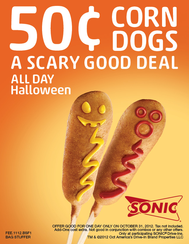 Halloween Restaurant Offers for Today, 10/31/12!