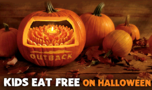 Outback Steakhouse Kids Eat Free Halloween
