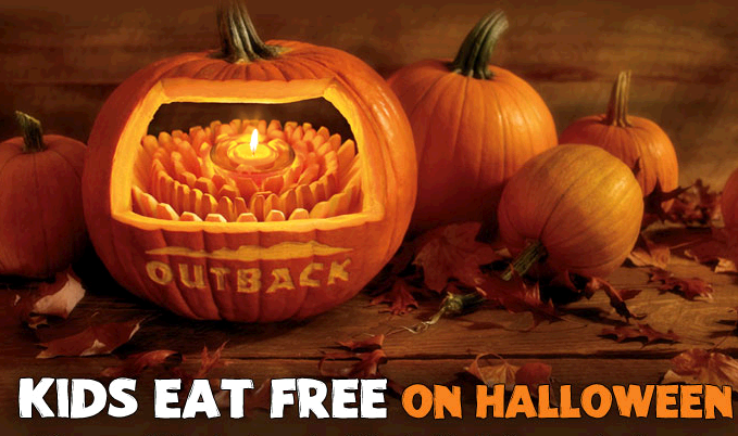 Outback Steakhouse: Kids Eat Free on Halloween