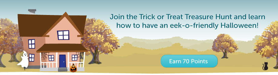 RecycleBank: Earn 70 Points with Trick or Treat Treasure Hunt