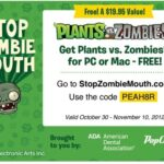 FREE Plants vs. Zombies Download Card for Halloween Treat!