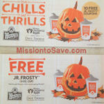 Wendy's Frosty Coupon Booklet