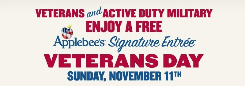 Applebee's Veterans Day Offers 2012