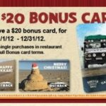 Holiday Bonus Gift Card Offers 2012: Outback Steakhouse!