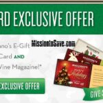 Maggiano's Bonus Gift Card Offer + Food and Wine Mag (or Refund!!)