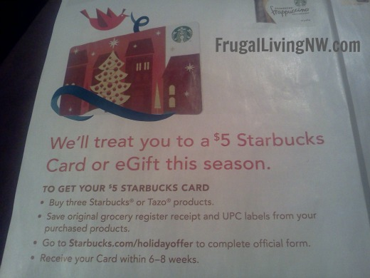 Starbucks Gift Card Offer