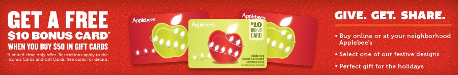 applebees bonus gift card offer
