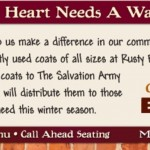 Rusty Bucket Coat Drive- Donate at 7 Columbus Area Locations