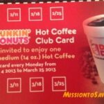 Dunkin Donuts Coupons: Mailer + Free Coffee On Monday's at N. High Street Location