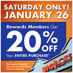 Big Lots Sale- 20% Off Entire Purchase on Saturday!