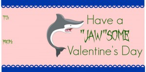 Have a Jawsome Valentine's Day printable tags on MissiontoSave.com