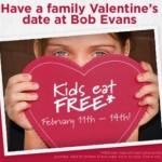 Bob Evans kids eat free