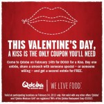 BOGO Qdoba with Kiss on 2/14/13!