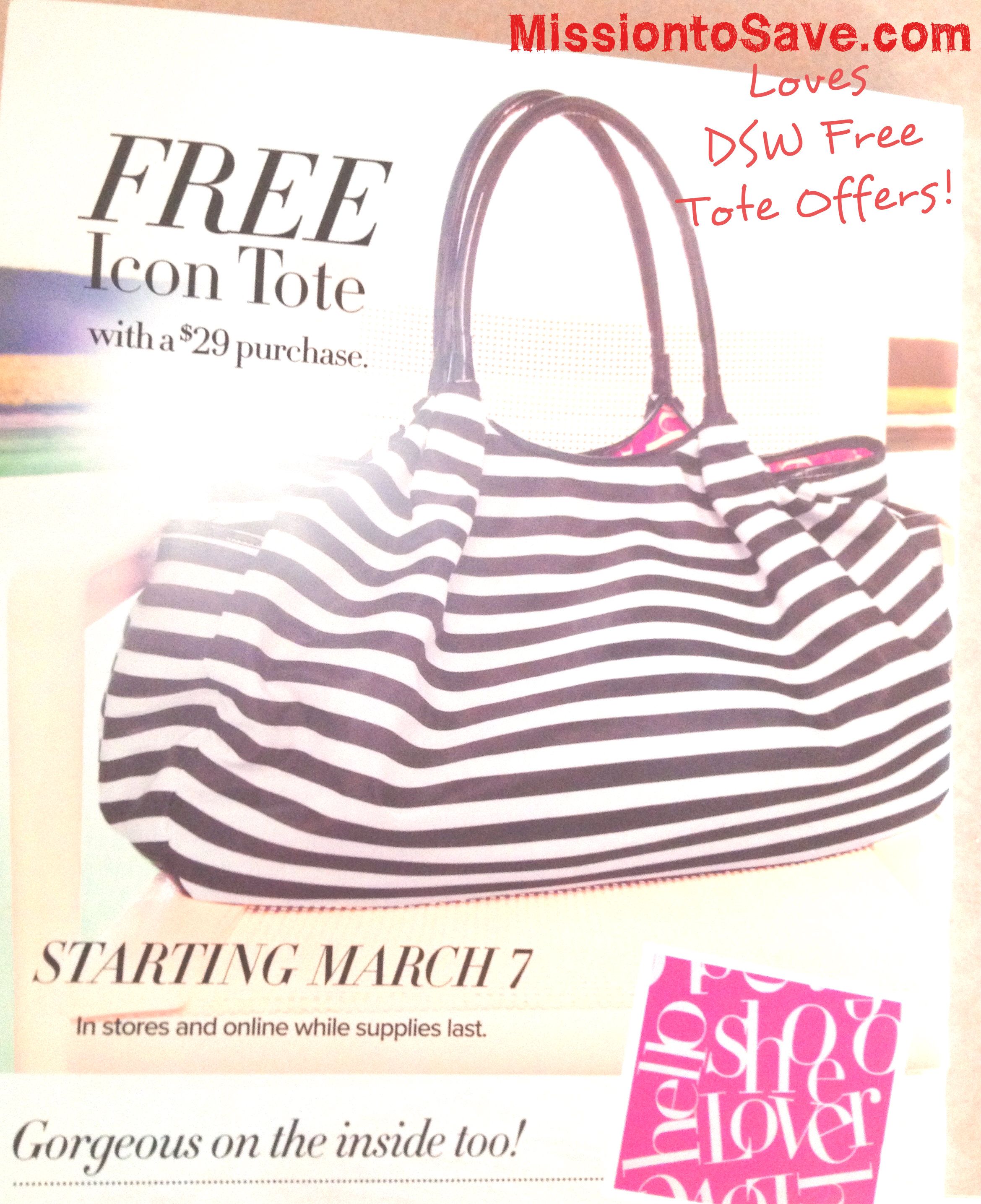DSW Free Tote March 2013