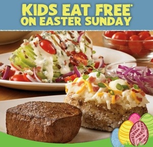 This Sunday March 31, Kids Eat Free at Outback Steakhouse