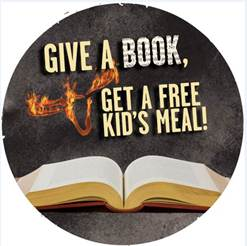 LongHorn Steakhouse Kids Eat Free with Book Donation on 4/2/13