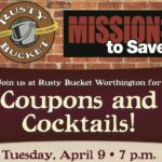 Coupons and Cocktails Class at Rusty Bucket Worthington, 4/9!