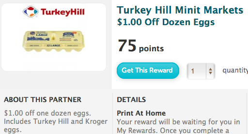 Recyclebank Printable Coupon Reward for $1/1 Eggs at Turkey Hill Markets
