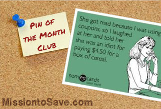 March Pin of the Month Club Pinterest Linky: Coupon Humor