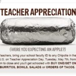 BOGO Chipotle for Teacher Appreciation Day on May 7th