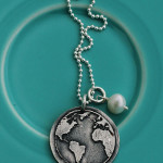 The Vintage Pearl Earth Day Charm Necklace – 50% of Proceeds to Blood Water Mission