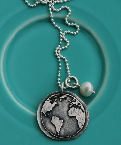 Earth Day Charm Necklace from The Vintage Pearl