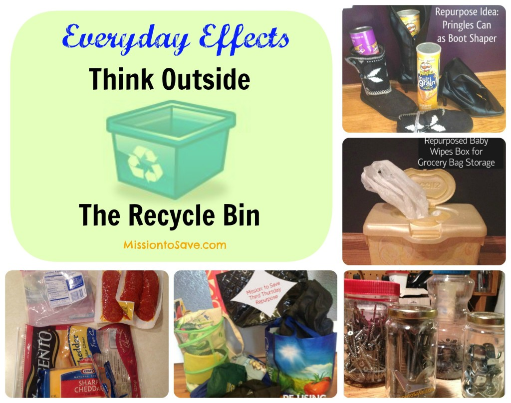 #EverydayEffect Think Outside the Recycle Bin from MissiontoSave.com