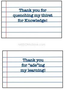 Teachers Gift Printable Tags