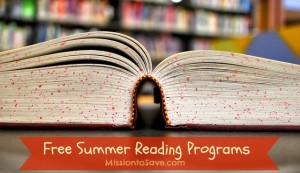 Free Summer Reading Programs for 2013 on MissiontoSave.com
