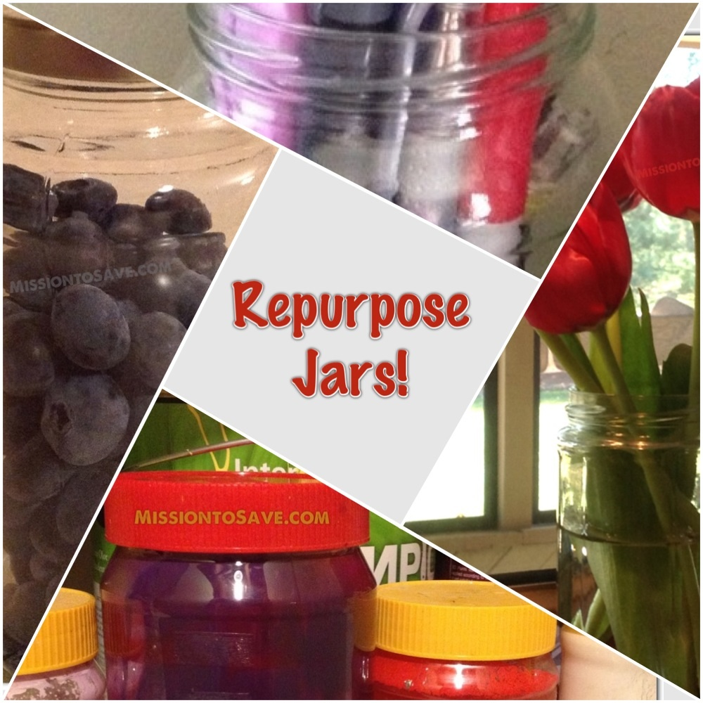 11 Ideas to Repurpose Jars for Household Use. (Some you may not have thought of). From MissiontoSave.com