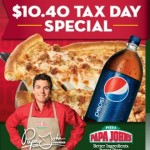Tax Day Deal from Papa John's – $10.40 for Large + 2 Liter