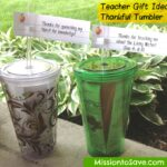 Thankful Tumblers Teacher Gifts Idea (with Free Printable Tags)