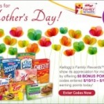 Kellogg's Family Rewards Bonus Points for Mother's Day Weekend.
