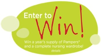 Enter to Win Year Supply of Diapers and Nursing Wardrobe from Pampers and  #LovingMomentsBr