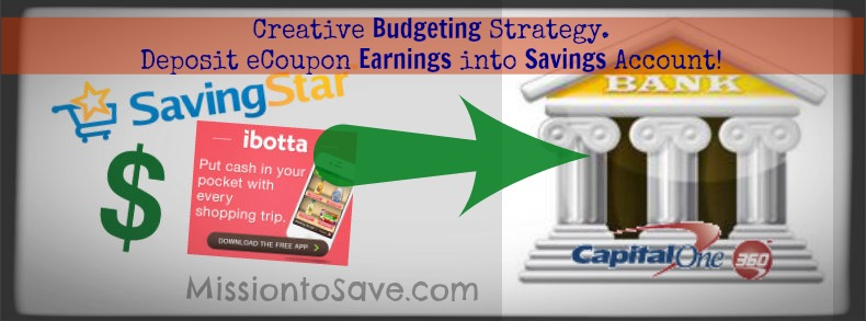 Built in Budgeting with Capitol One 360 Savings Account and eCoupon Savings!