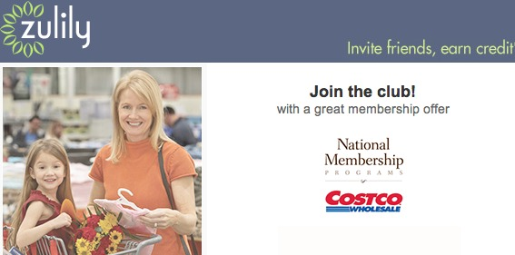 HOT!  Snag Costco Membership on Zulily!
